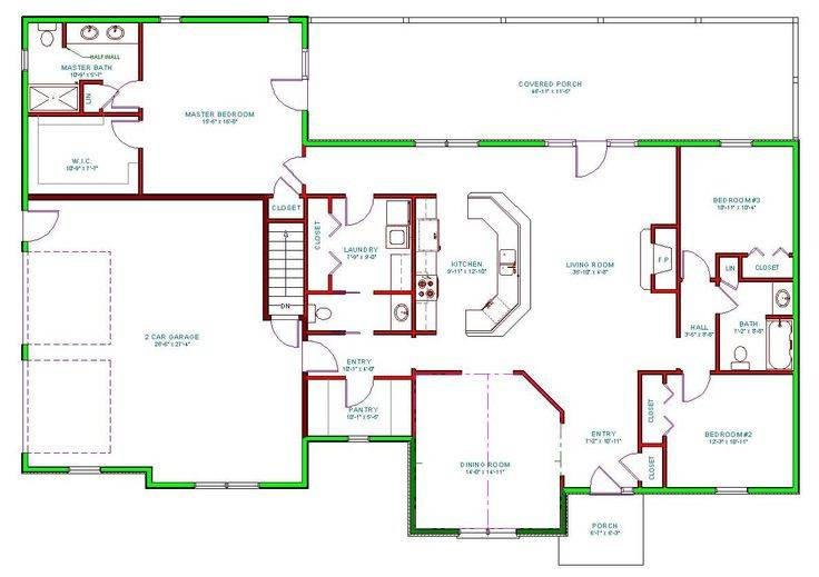 Ranch Homes Plans Side Entrance Garage House Plan Home