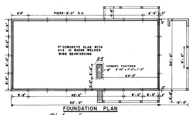 Ranch House Foundation Plan Cross Section These Plans