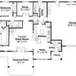 Ranch House Plan Elk Lake Floor