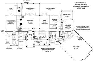 Ranch House Plan Plans Floor