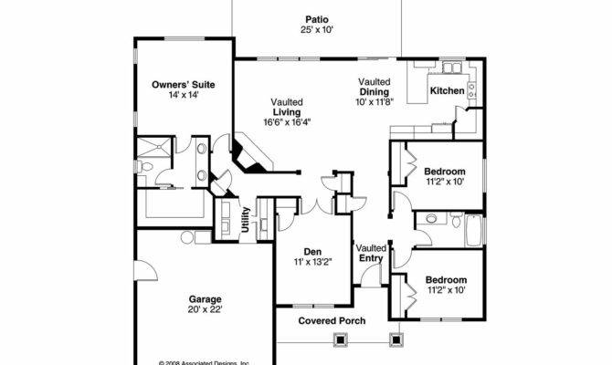 Ranch House Plan Wheatfield Floor