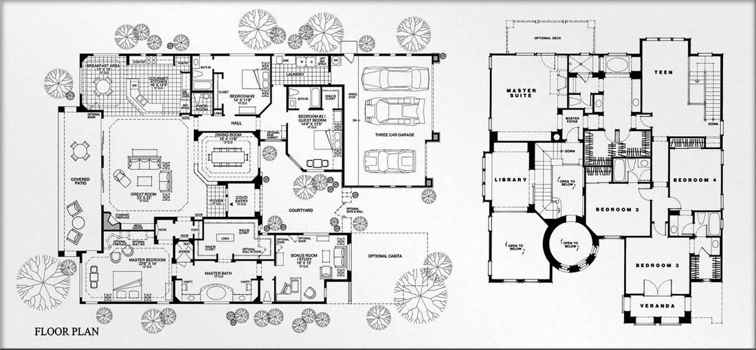 Luxury Estate Floor Plans] Luxury House Floor Plans On 1510X946