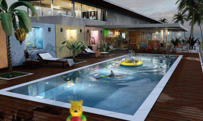 Related Swimming Pools House Plans Indoor