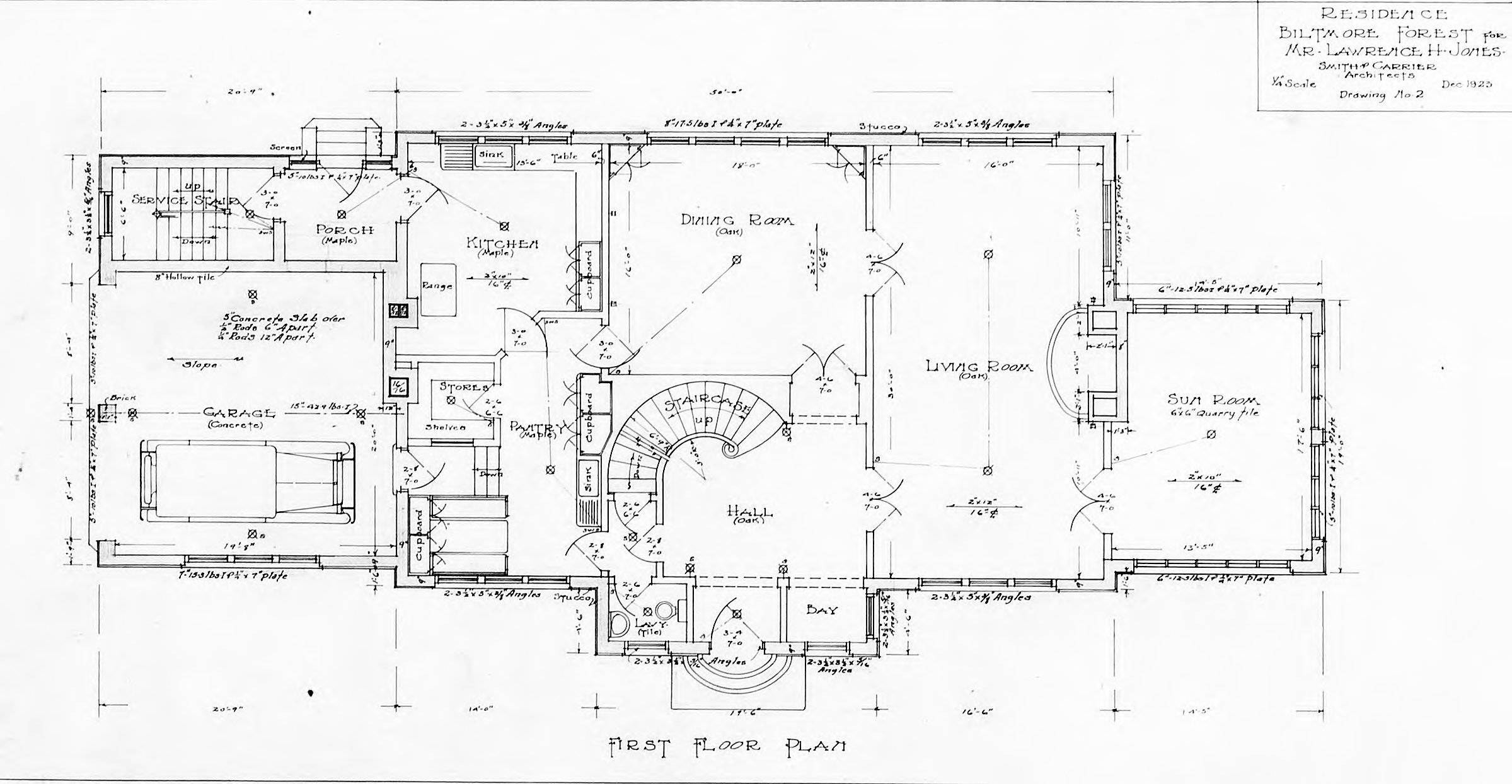 Biltmore Estate Floor Plans