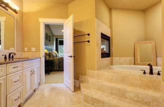 Right Pass Through Fireplace Shared Bathroom Bedroom