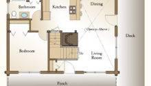 Rockville Log Home Plan Bedroom