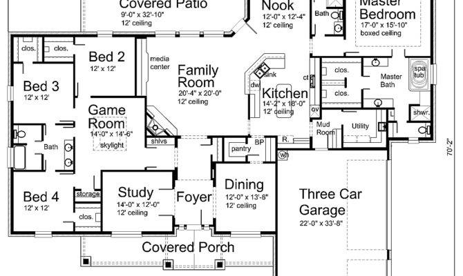Room Game Rooms Two Story Floor Plan Dream House Houseplans
