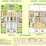 Row House Floor Plan Dsk Meghmalhar Phase Bhk Flats