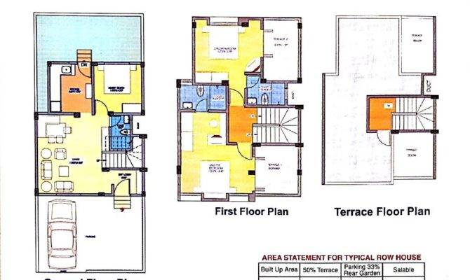 Stunning 27 Images Row House Floor Plan Home Building