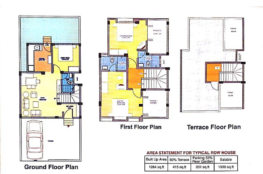 Row House Floor Plans India Home Design Building