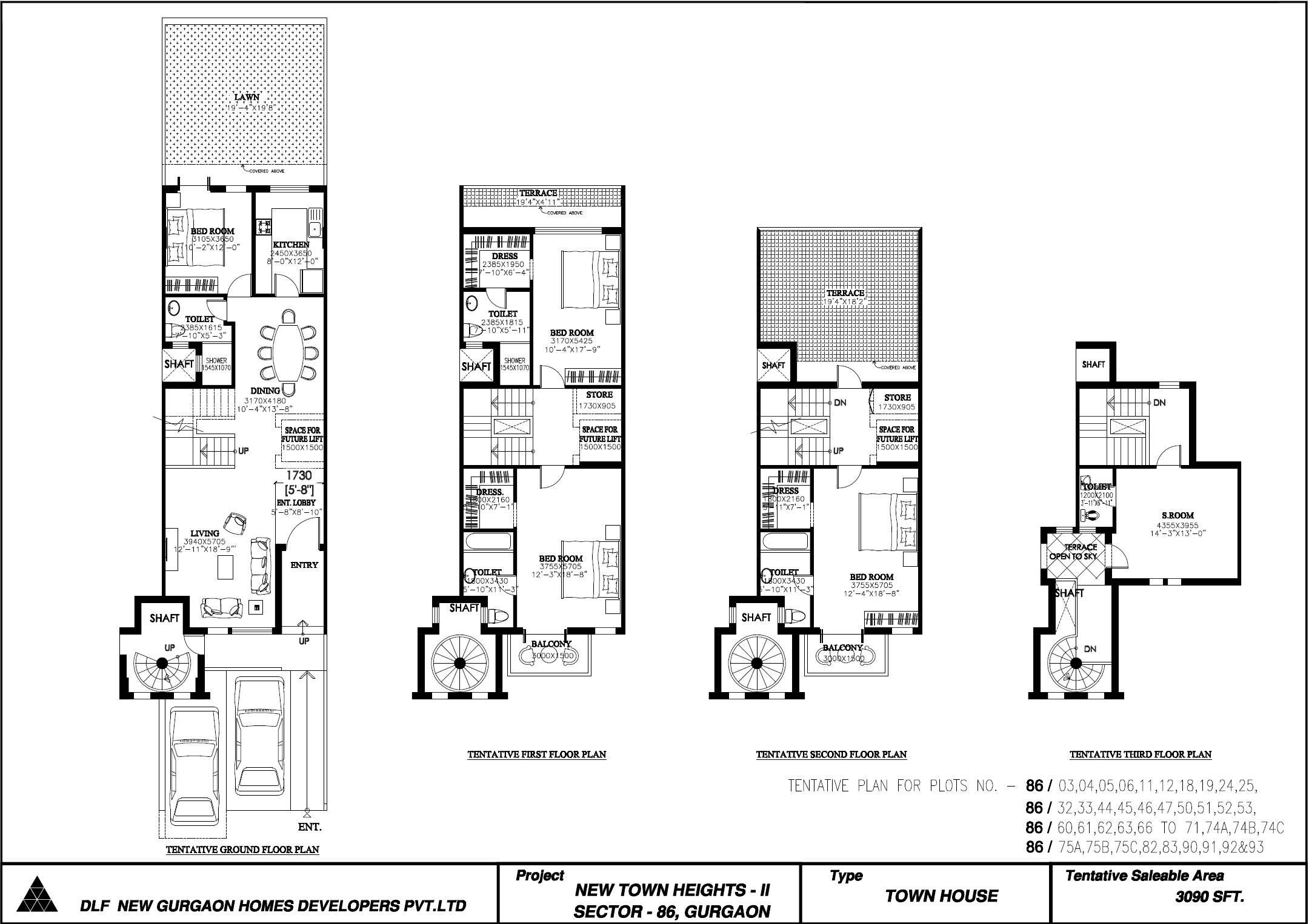 Row House Site Plan House Design Ideas