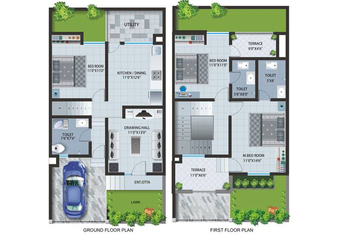 Row House Layout Plan Patel Pride Aurangabad Home