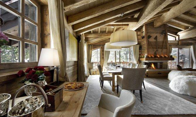 Rustic Chalet Interior Design Ideas Architectural Drawing