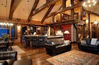 Rustic Open Floor Plan Love Location Loft Home