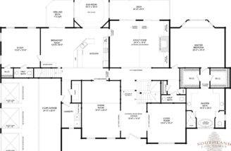 Rutherford Log Cabin Floor Plan Southland Homes