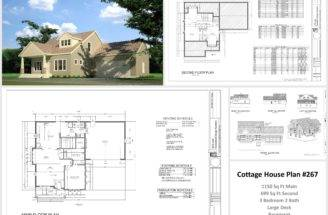 Sample Cottage House Plans Barn Blueprints