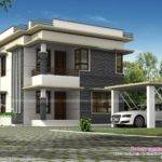 Separate Car Porch Flat Roof Home Kerala Design Floor Plans