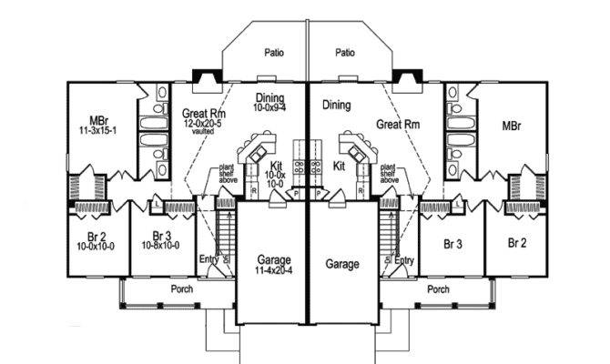 Shadydale Multi Duplex Plan House Plans More