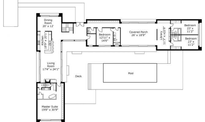 Interesting U Shaped House Plans With Pool In Middle Contemporary ...