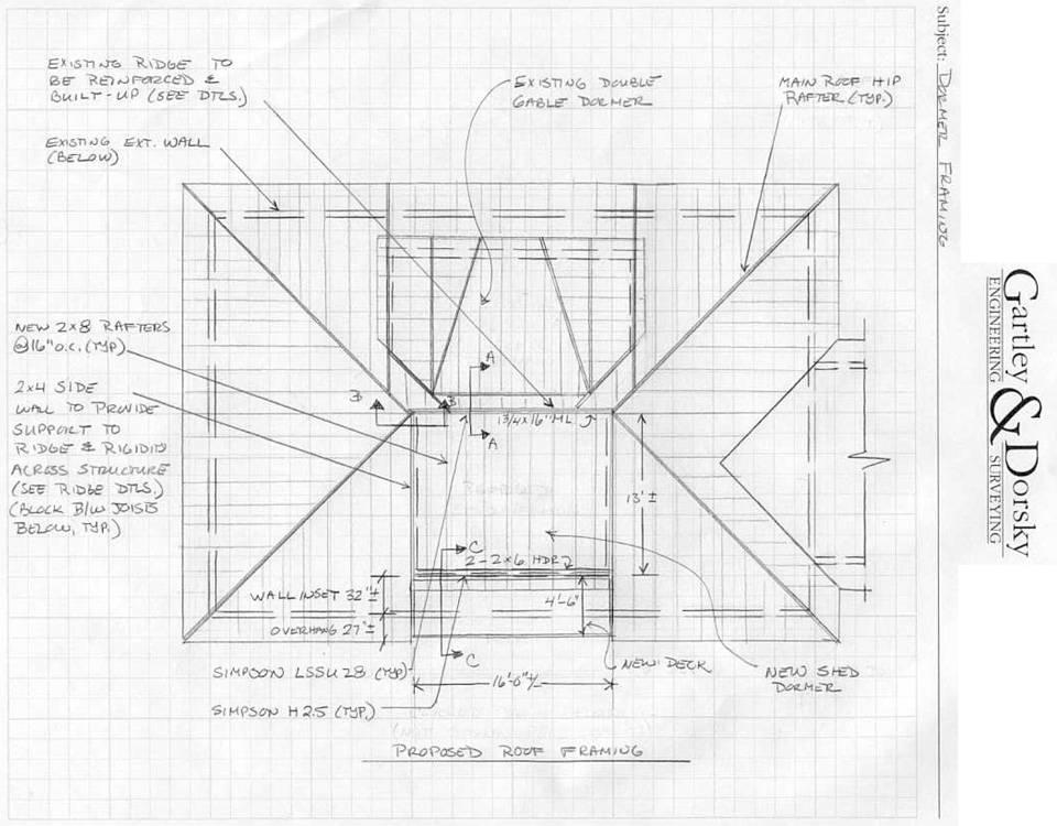 Dormer Framing Plans ~ BOLIERI
