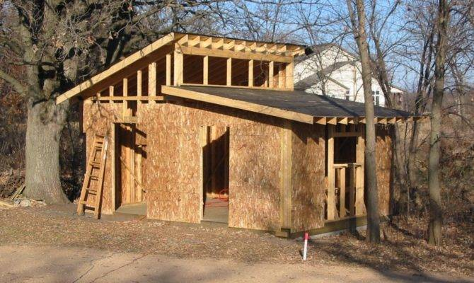 Shed Roof Building Rafters Plans