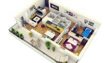 Shiny Pops Colour Make Two Bed Room Cheerful Area
