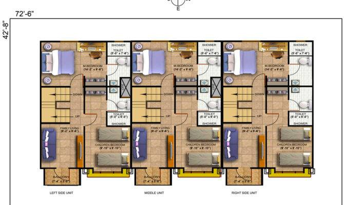 Silvana Floor Plan East Row House