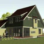 Simple Bungalow Craftsman Home Plan Small House Bayport