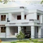 Simple Flat Roof Villa Square Feet Kerala Home Design