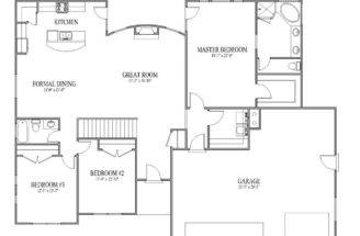 Simple Floor Plans Homes House Open
