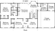Simple Floor Plans Measurements House