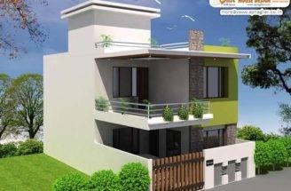 Simple Modern Duplex House Design Square Feet Link