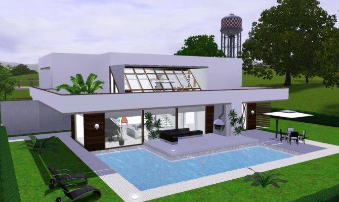 Sims Modern House Android Iphone Ipad