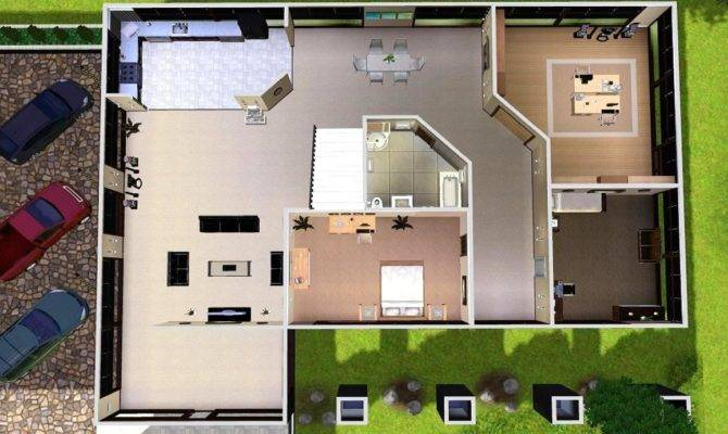 Sims Modern House Floor Plans Displaying