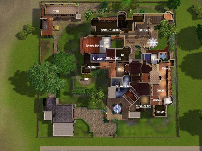 Sims Modern Mansion Floor Plans Queenstown Plan Home