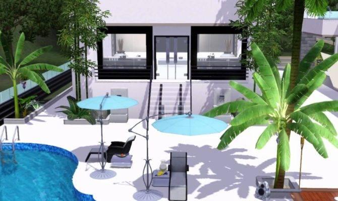 Sims Modern Ultimate White Villa Youtube
