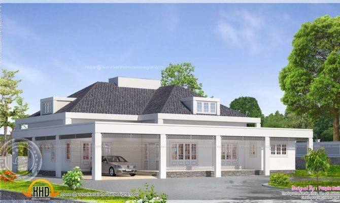 Single Floor European Model House Indian Plans