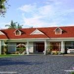 Single Storied House Dormer Windows Kerala Home Design