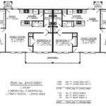 Single Story Duplex House Plans Joy Studio Design
