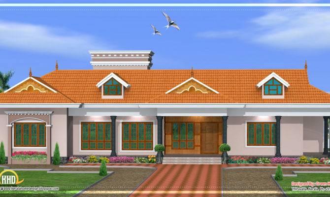 Single Story House Model Kerala Home Design Floor