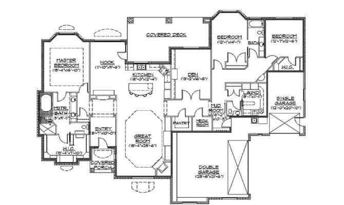 Slab Grade Rambler Home Hwbdo Traditional House Plan