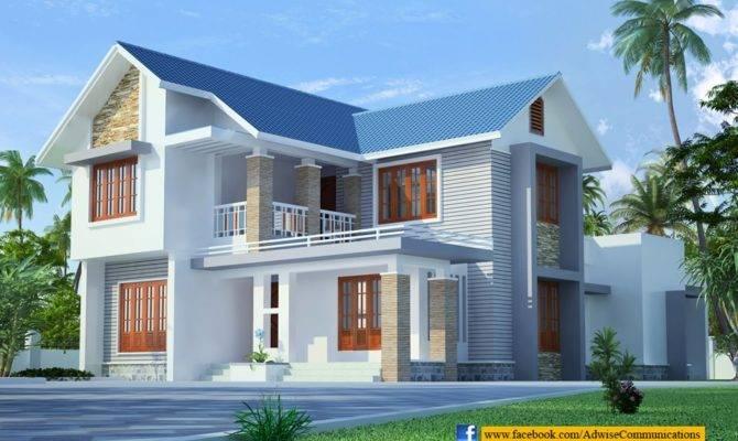 Sloped Roof Kerala Home Design