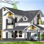 Sloping Roof Home Exterior Feet House Design Plans