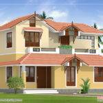 Sloping Roof House Elevation Kerala Home Design