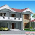Sloping Roof House Elevation
