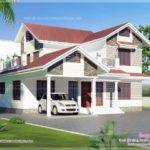 Sloping Roof House Exterior Sqm Home Kerala Plans