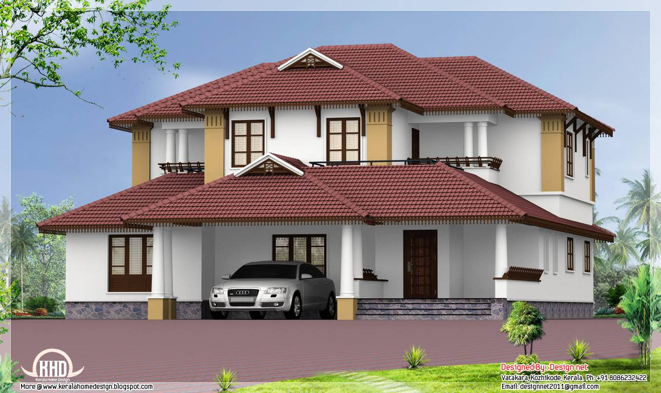 Sloping Roof House Kerala Home Design Architecture Plans Home Building Plan