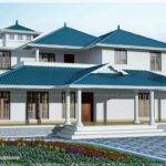 Sloping Roof Luxury Villa Exterior Kerala Home Design Floor