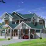 Sloping Roof Modern Home Design Kerala Floor Plans