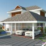 Sloping Roof Residence Kerala Home Design Floor Plans